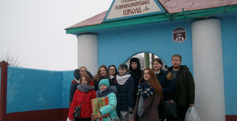 Новогодний визит волонтёров